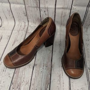 Lucky Brand leather patchwork shoes